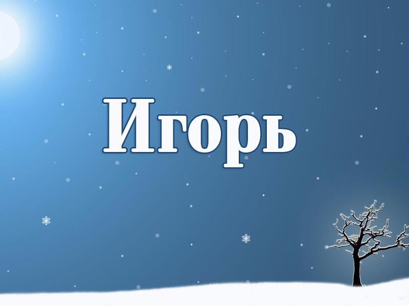 Значение мужского имени Игорь